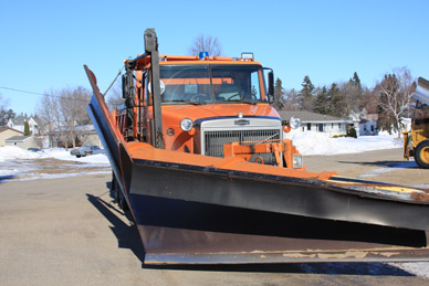 Hobart Township snow plow